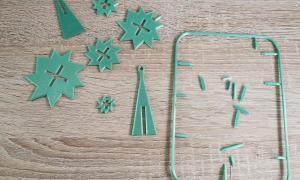 Drucksache Retro Weihnachtsbaum 2