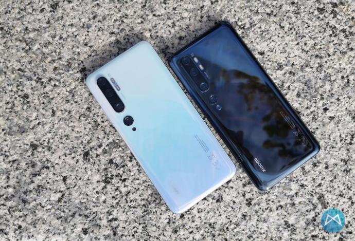 Xiaomi Note 10 Produktfotos