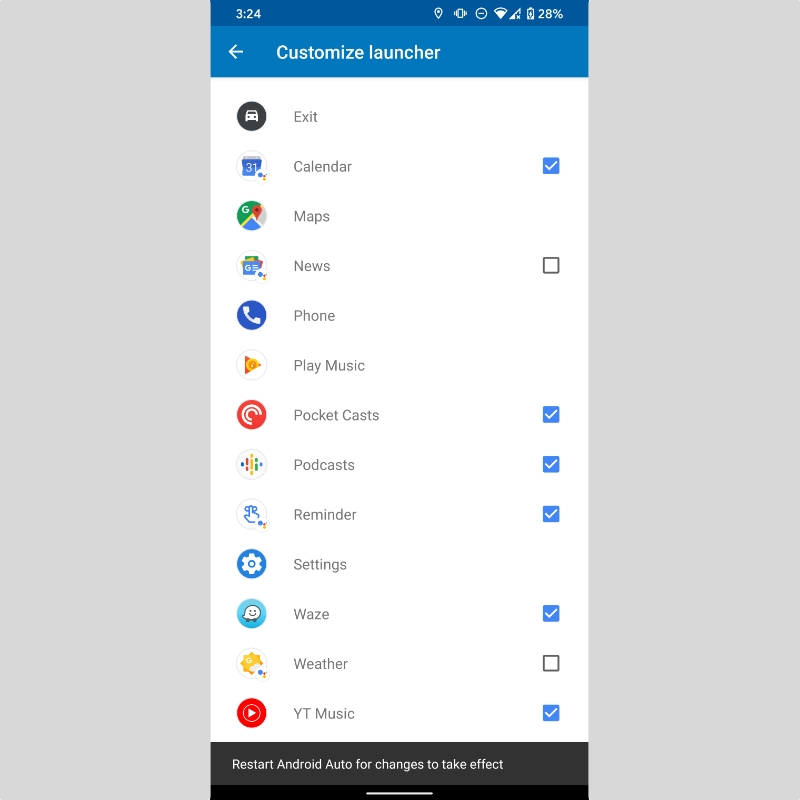 Android Auto Launcher