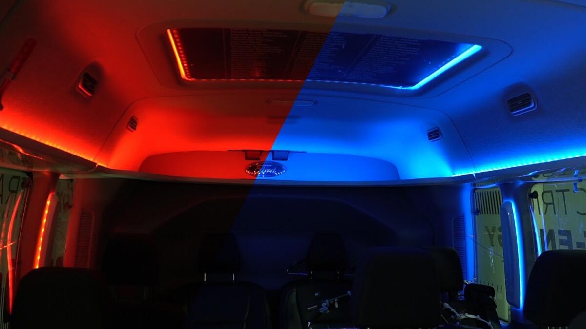 Ford Licht Rot Blau