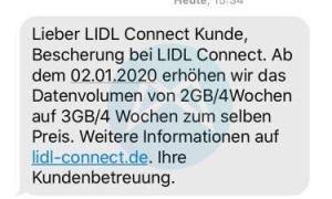 Lidl Connect Datenvolumen 01 2020