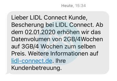 Lidl Connect Datenvolumen 01 2020