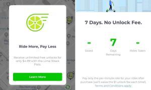 Lime Week Pass Screen