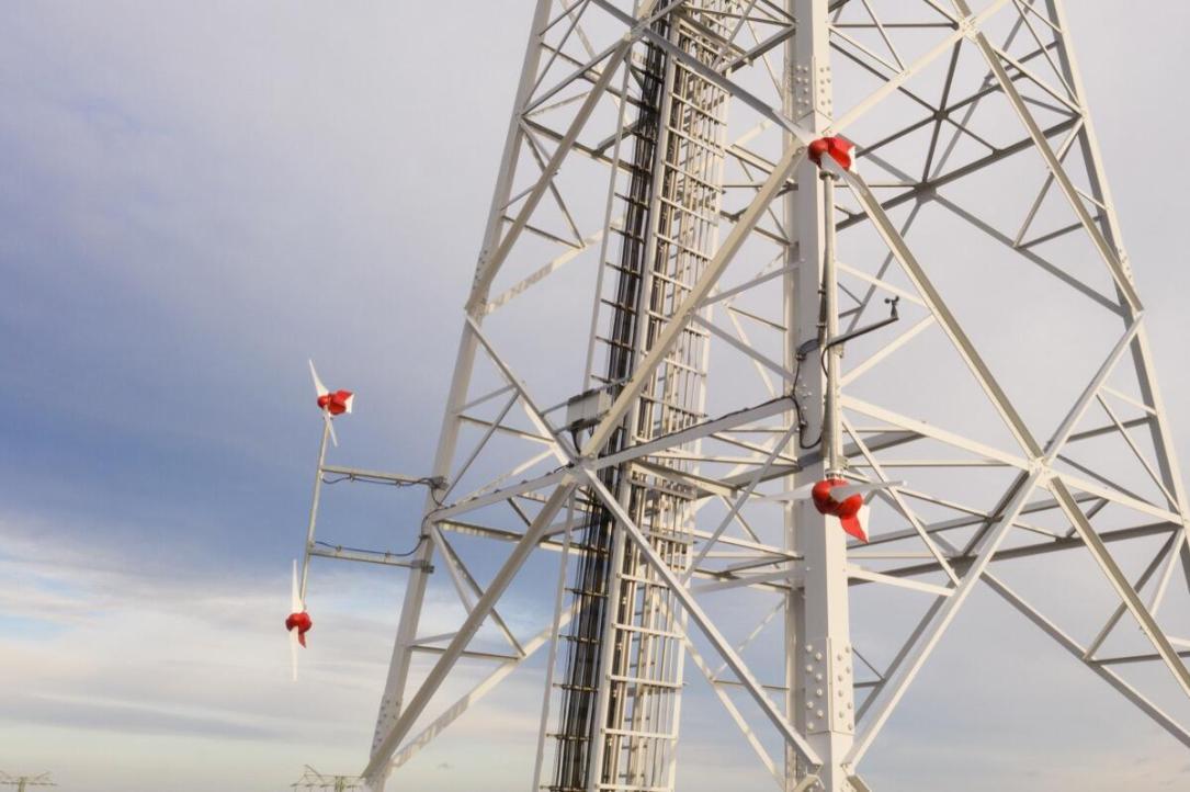 Vodafone Windkraft Mast