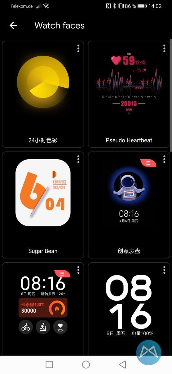 Xiaomi Mi Watch 3100 Watchfaces