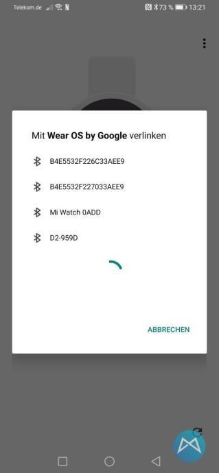 Xiaomi Mi Watch 3100 Wearos Kopplung