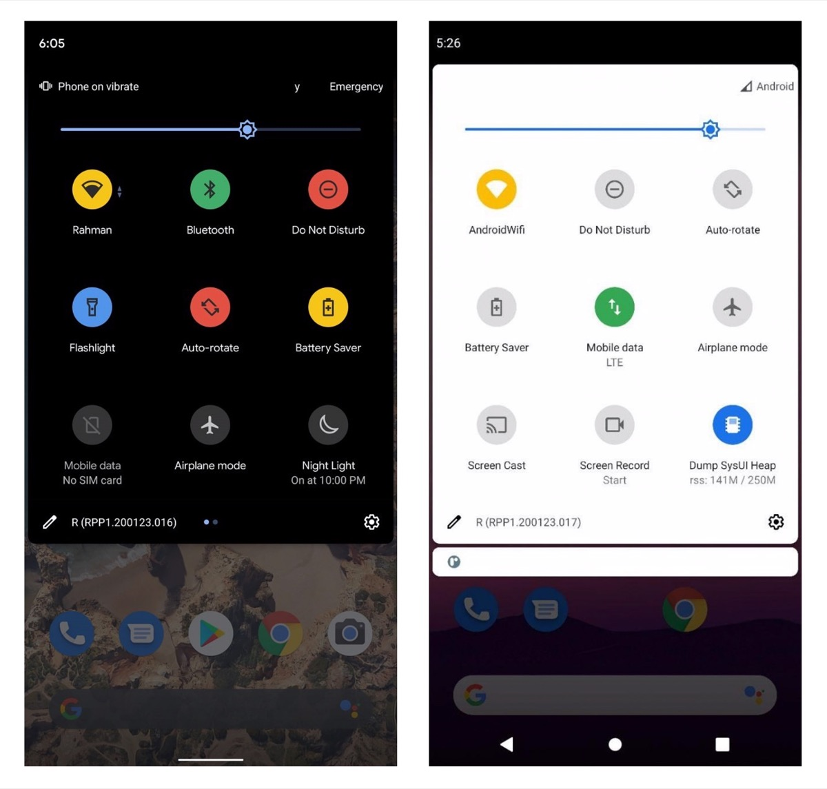 Android 11 Quick Settings