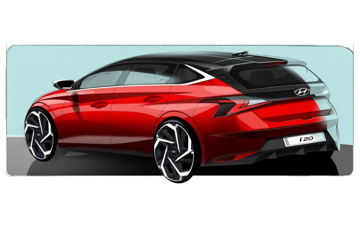 Hyundai I20 Skizze Back