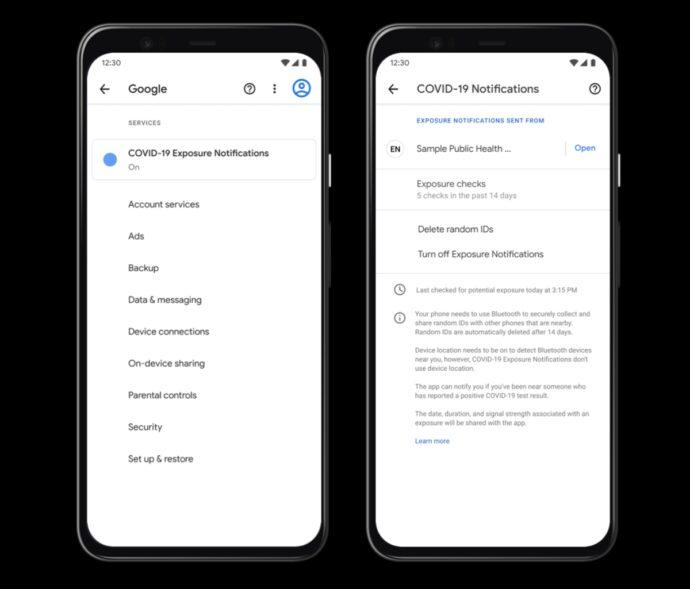 Corona App Android Einstellungen