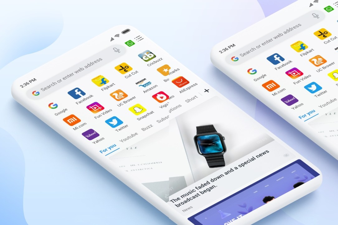Xiaomi Mi Browser Header