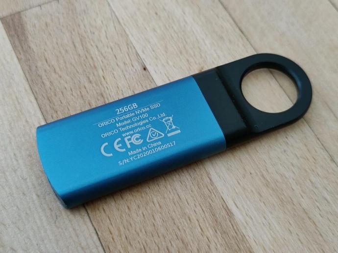 Orico Portable Nvme Ssd 256 Gb Rueckseite 08