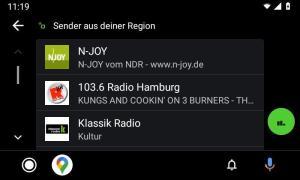 Radio.net Sender Androidauto