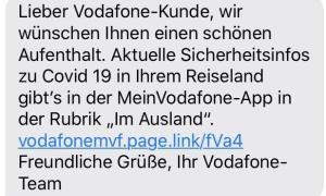 Vodafone Corona Sms