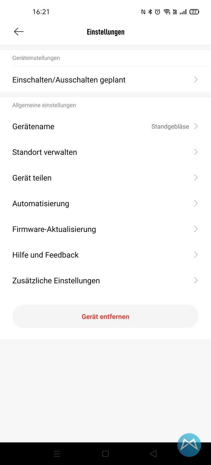 Xiaomi Mi Smart Standing Fan App 4