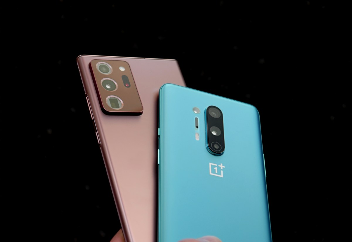 Samsung Galaxy Note 20 Ultra Oneplus 8 Pro Header