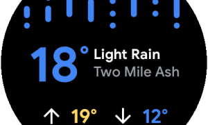 Wear Os Weather Tile 1