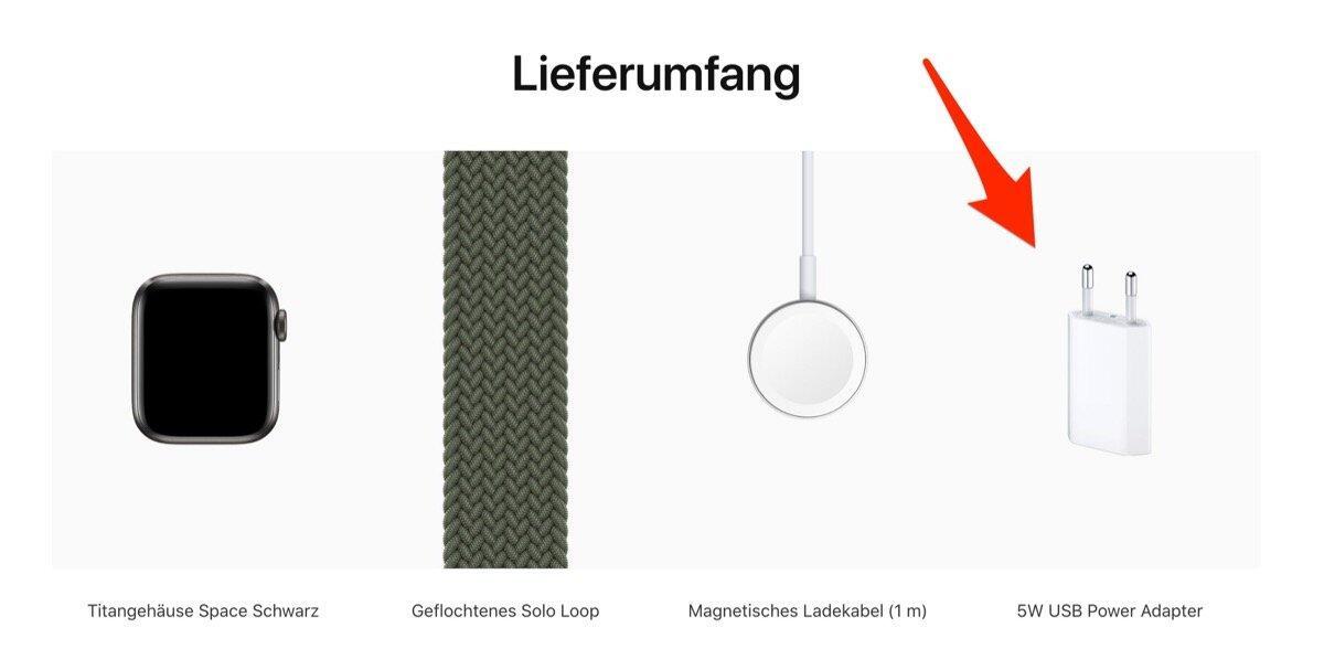 Apple Watch Lieferumfang
