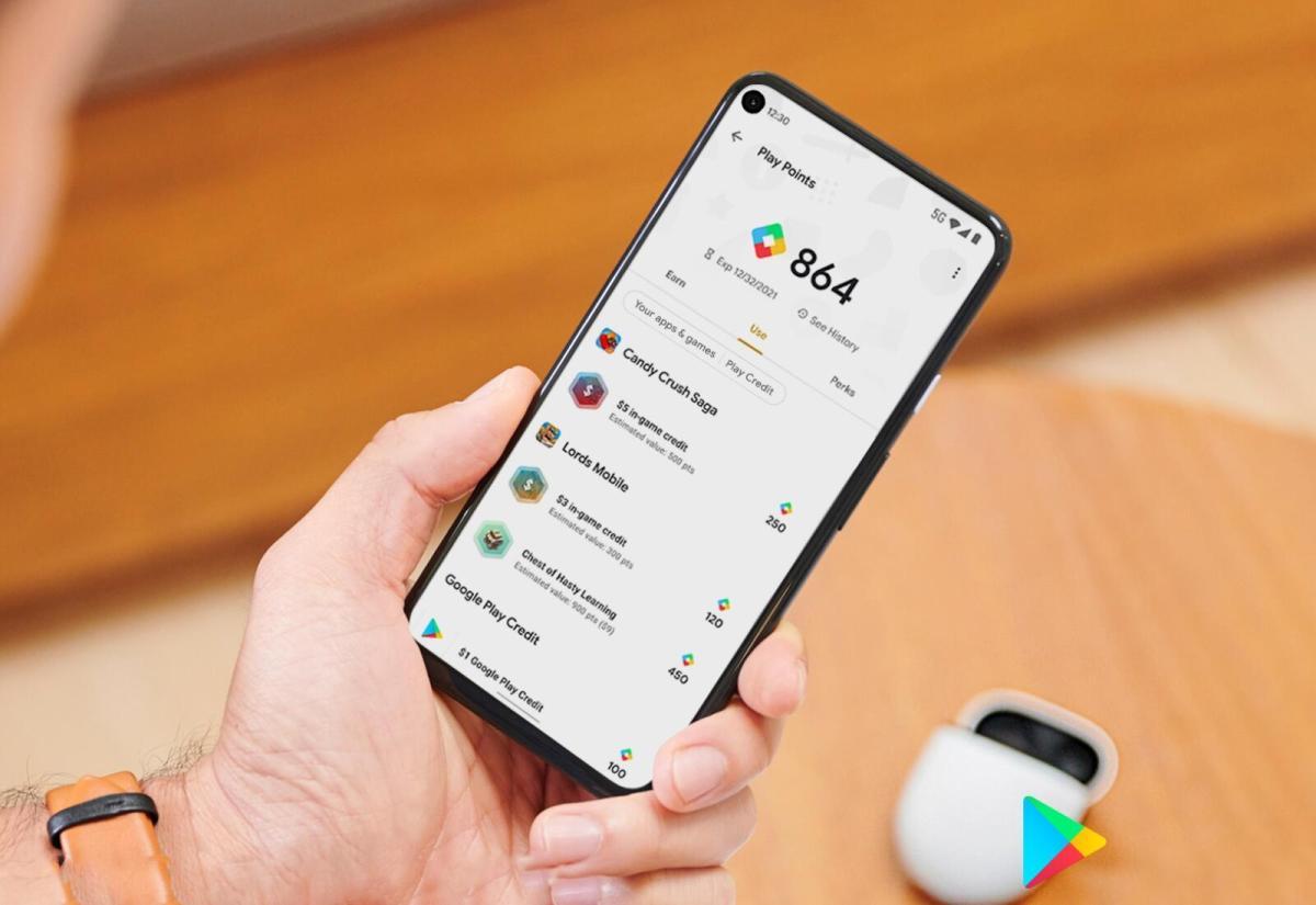 Google Play Points Header