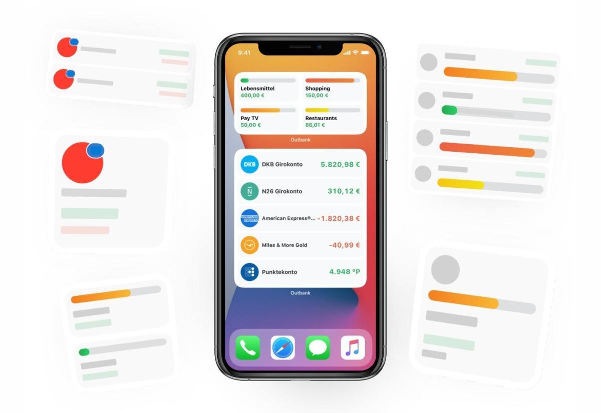 Apple iOS 14: Outbank jetzt mit Widgets