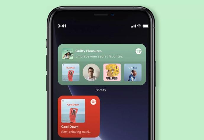 Spotify Widget Header