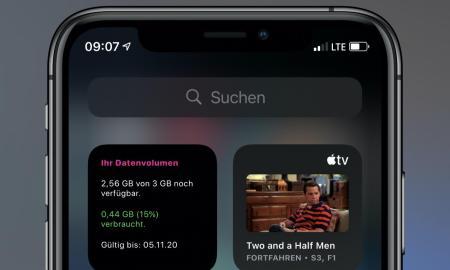 Telekom Datenverbauch Widget Neu