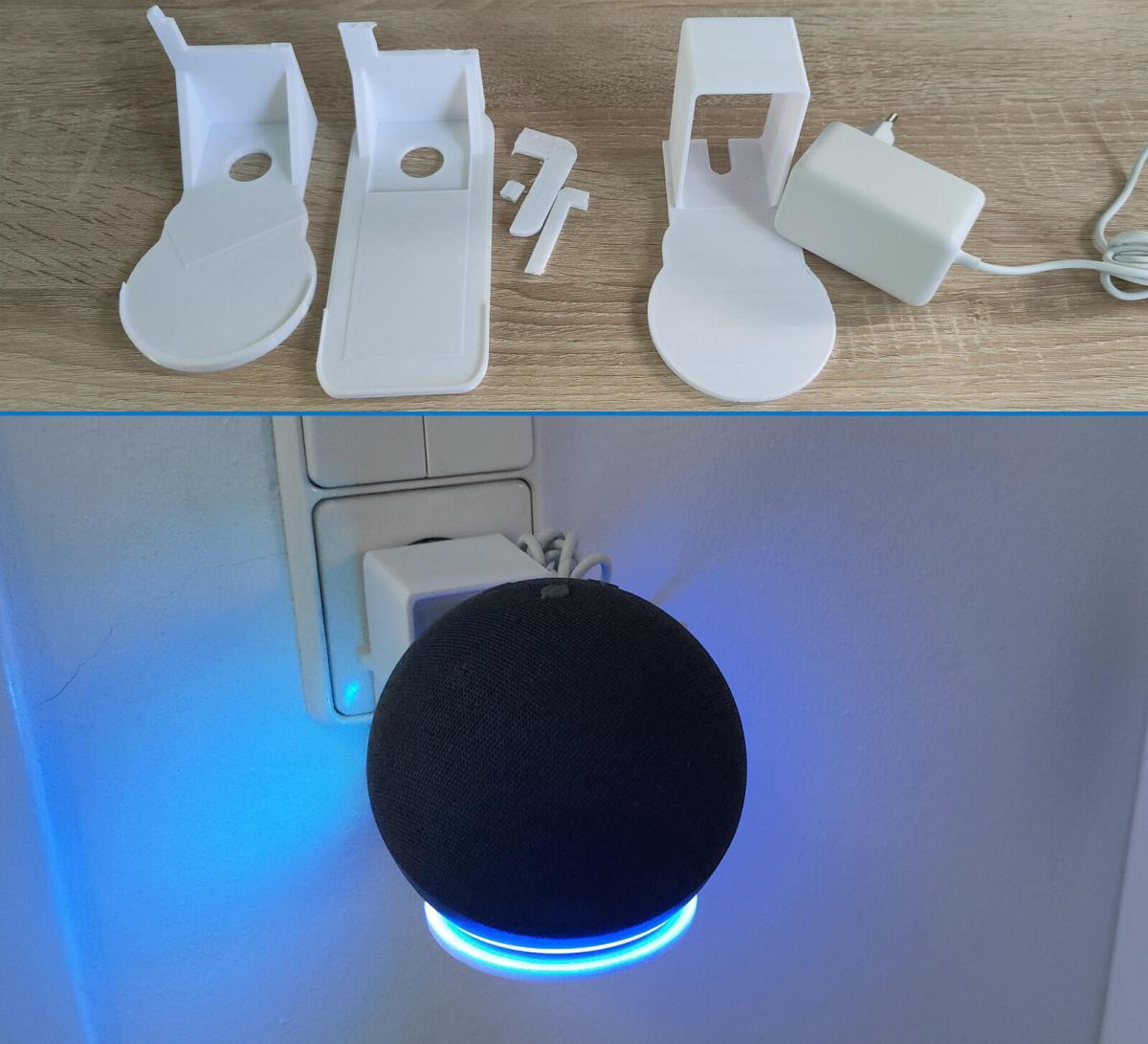 Echo Dot 4th Gen Halterung Tinkercad Versuche