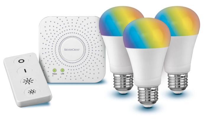 Livarno Lux Starter Kit Gateway 9 5 Watt Mit Sprachsteuerung Fernbedienung Zoom 1