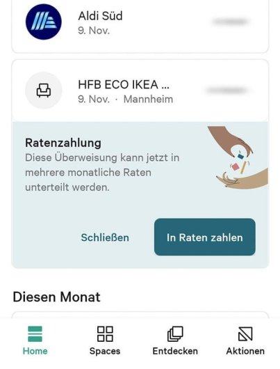 N26 Ratenzahlung