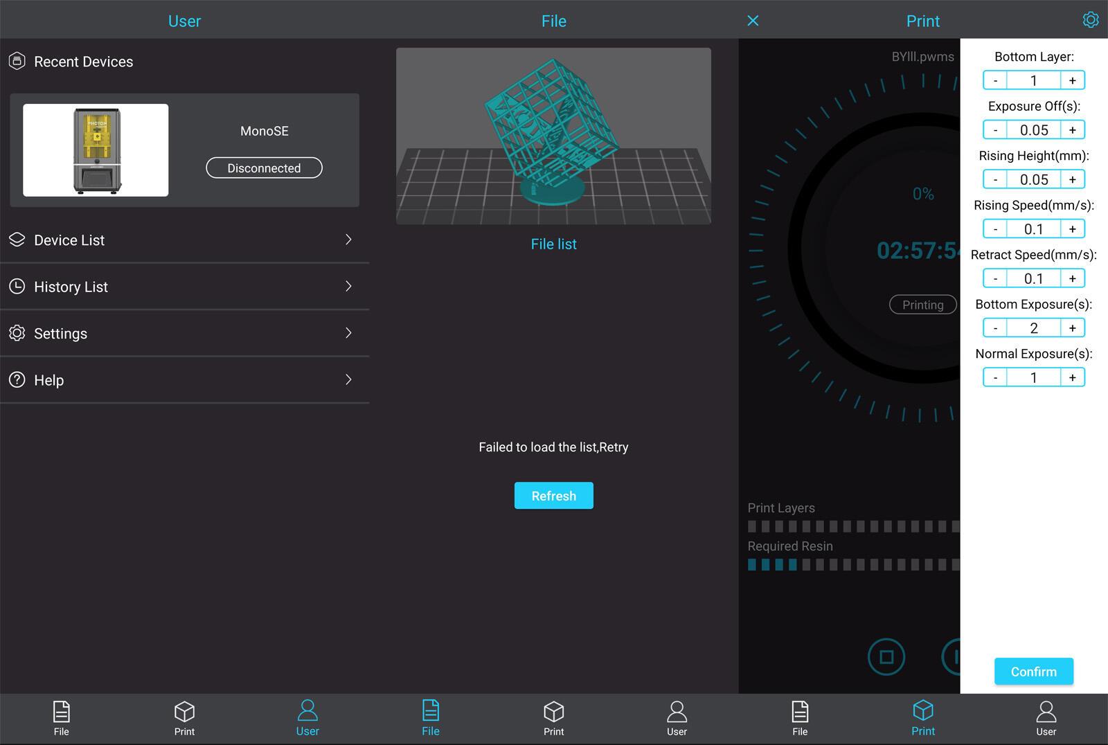 Anycubic Photon Monose App