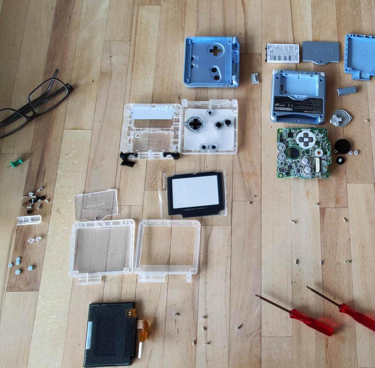 Nintendo Gameboy Advance Sp Display Und Case Umbau (10)