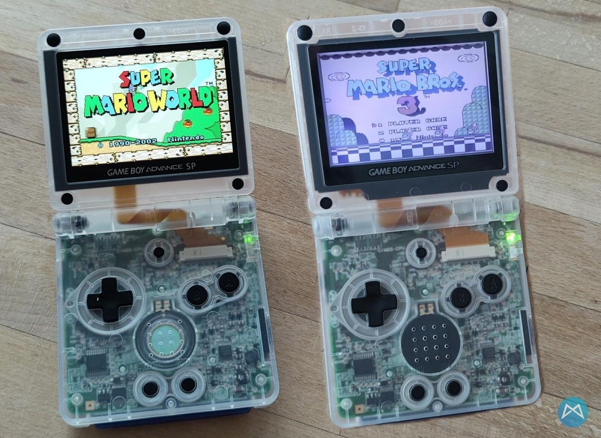 Nintendo Gameboy Advance Sp Display Und Case Umbau (4)
