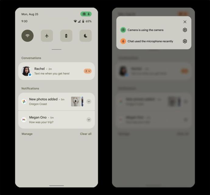 Android 12 Leak Benachrichtigung