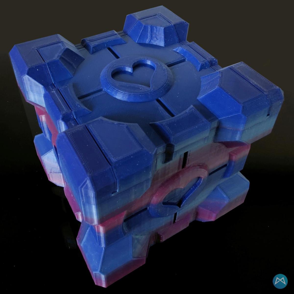 Companion Cube Farbverlauf