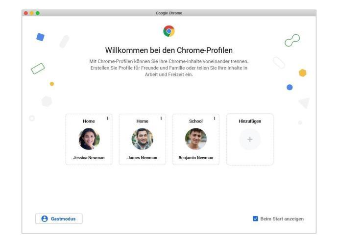 Chrome Profiles German