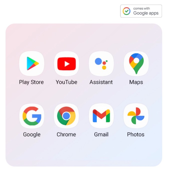 Comes With Google Apps