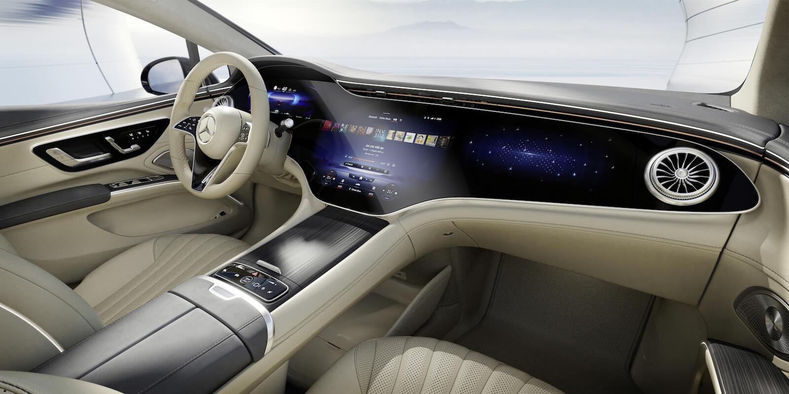 Mercedes Eq, Der Neue Eqs, Interieur Design Mercedes Eq, The New Eqs, Interior Design