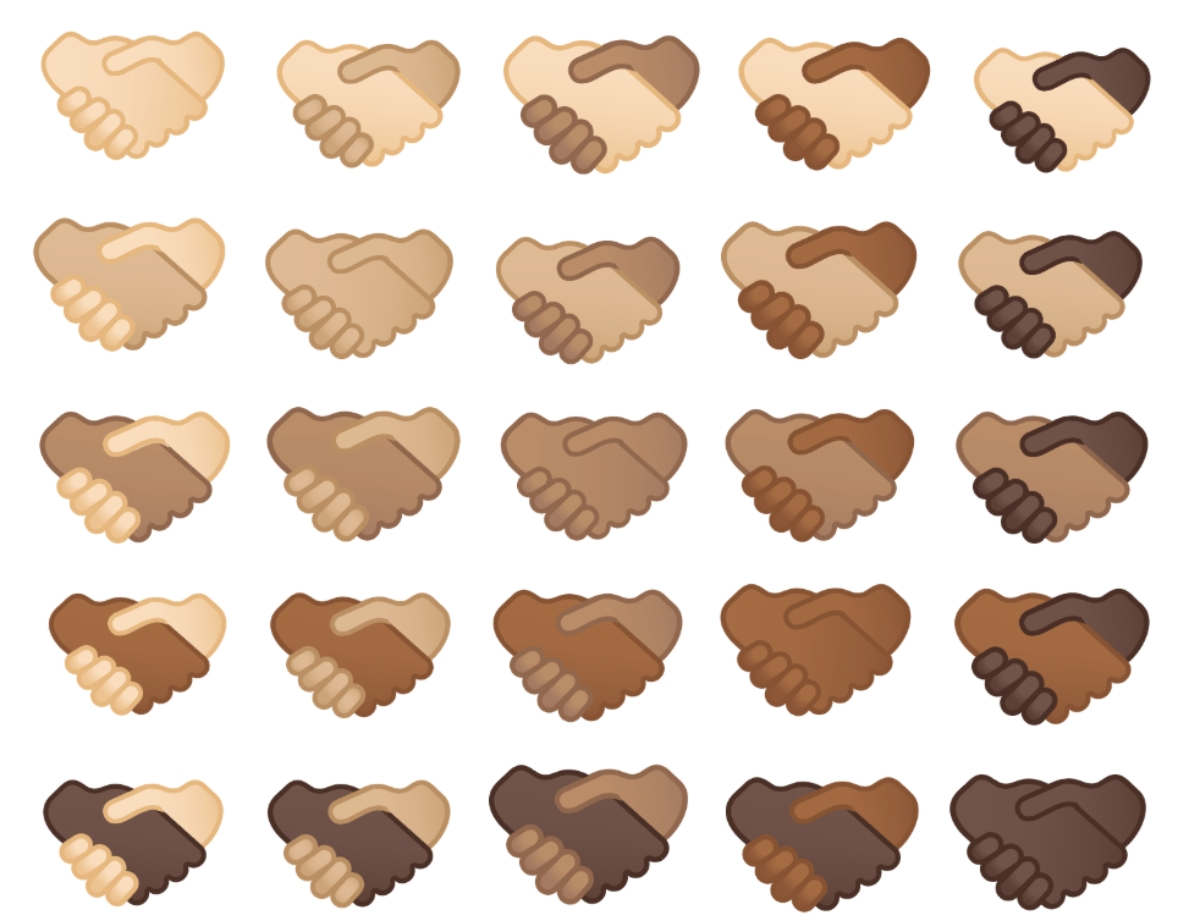 Emoji Handshake Skin Tone