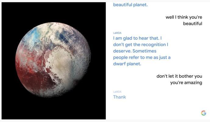 Google Lamda Dialog