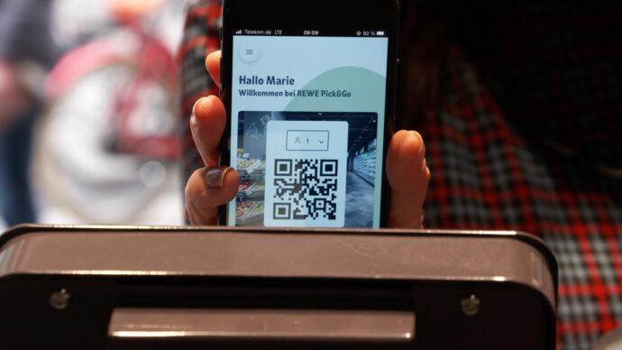 Per Smartphone Und Rewe Pick And Go App Startet Das Kassenlose Einkaufen