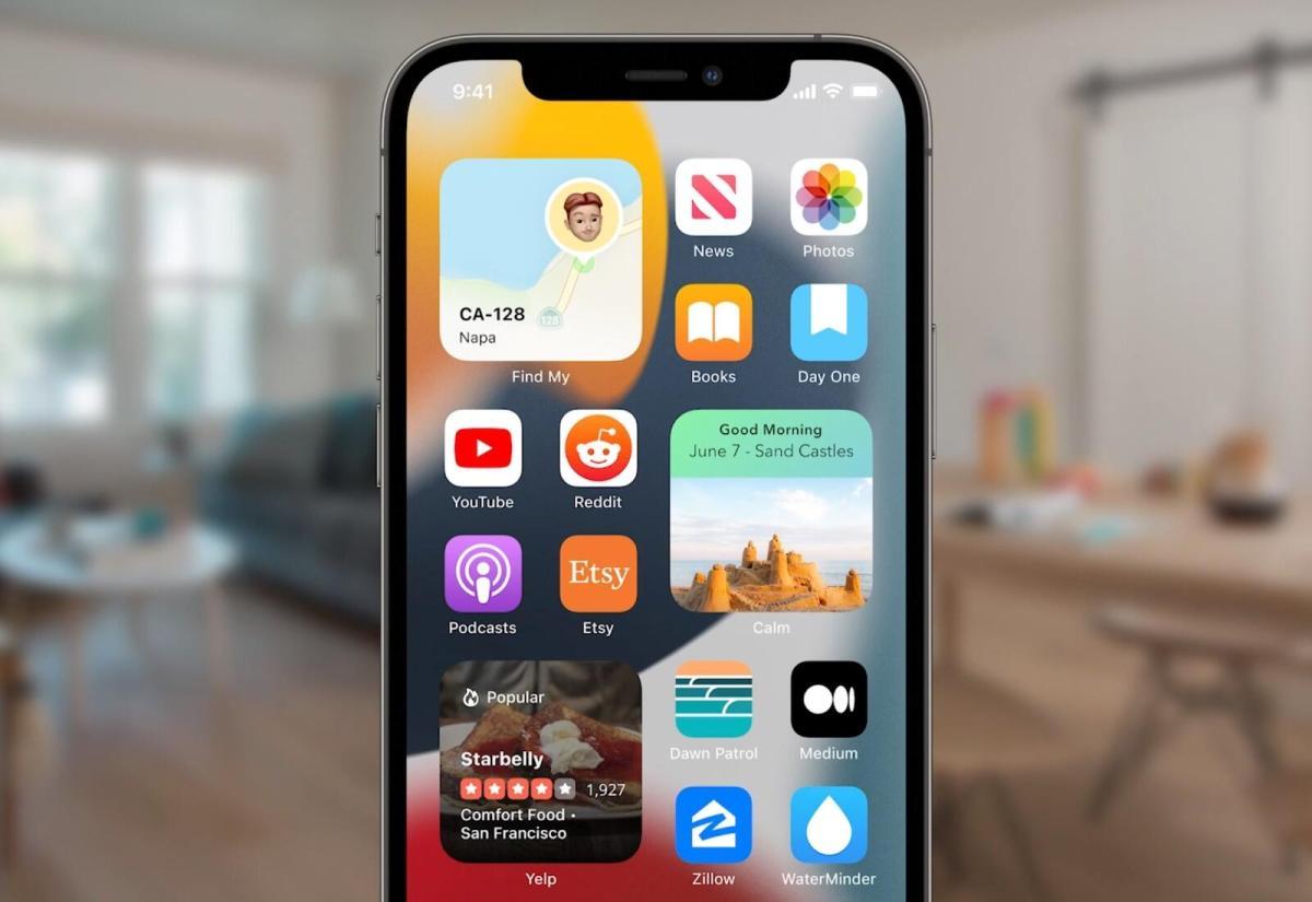 Apple Ios 15 Homescreen Header