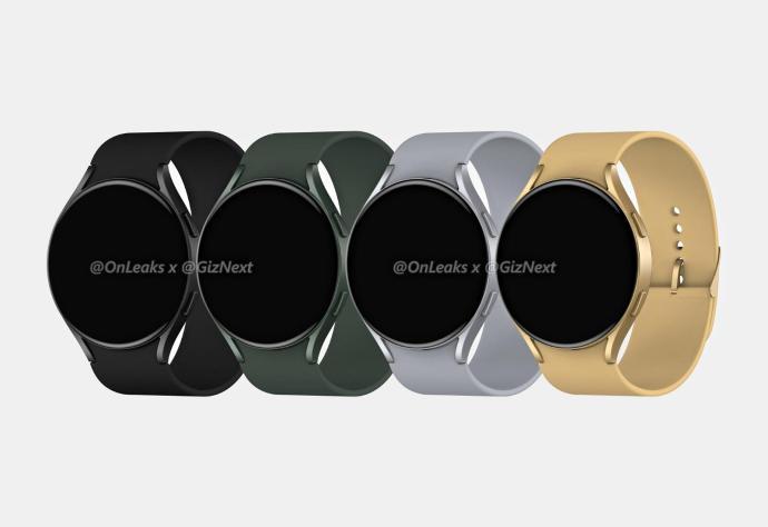 Samsung Galaxy Watch Active 4 Render Farben