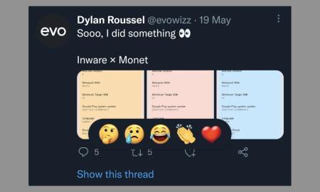 Twitter Emoji Reaktion
