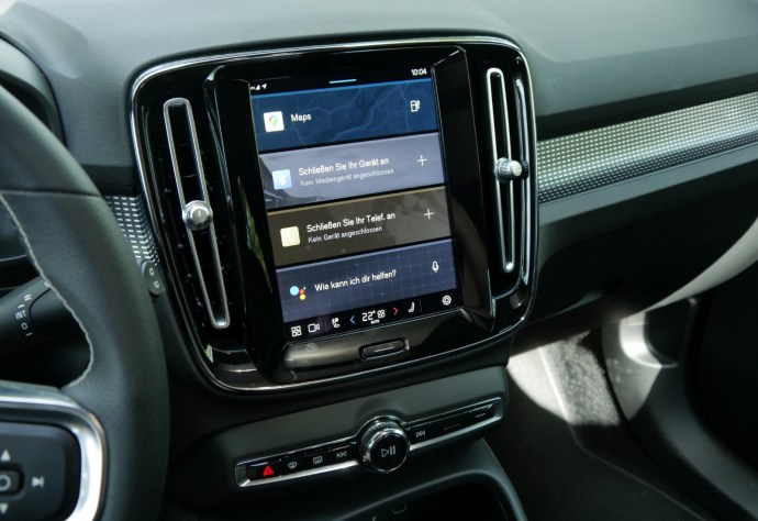 Volvo Xc40 Recharge Pure Electric Display