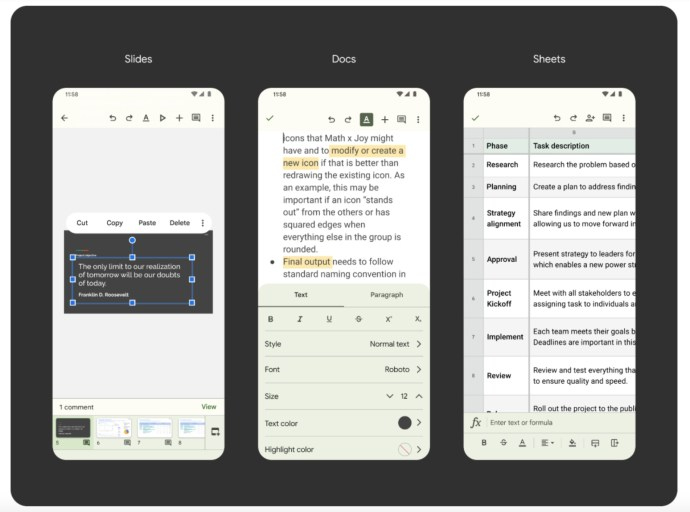 Google Docs Android 12 Material You Update