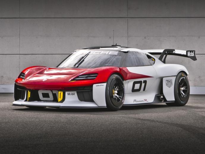 Porsche Mission R Cayman Konzept Front