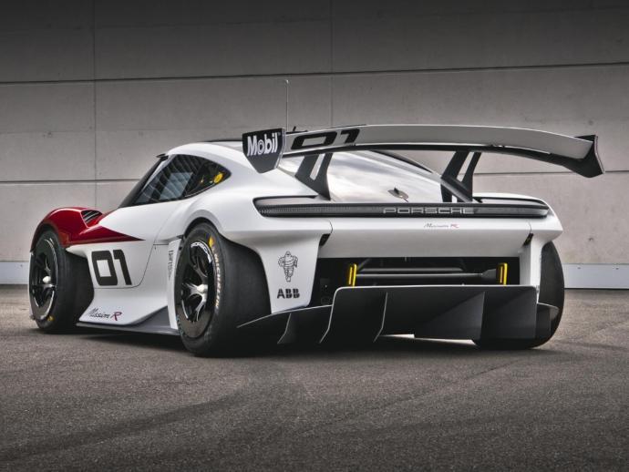 Porsche Mission R Cayman Konzept Heck