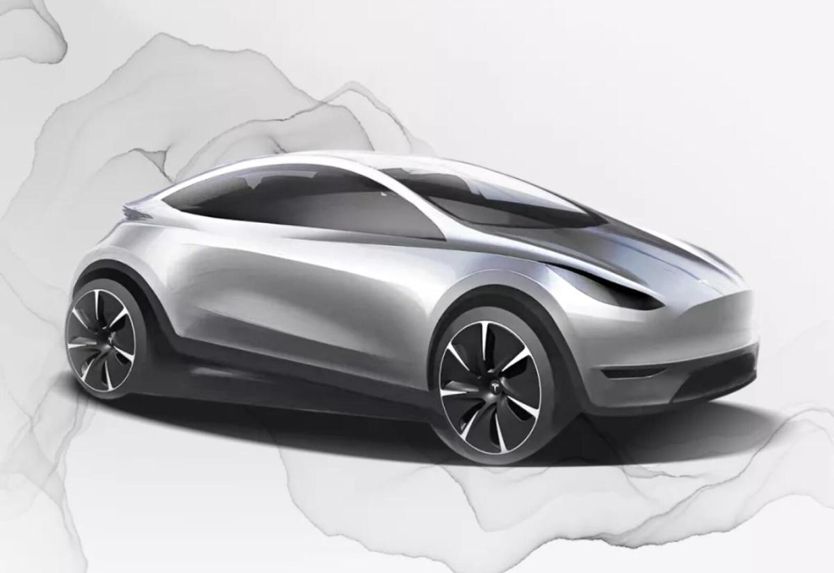 Tesla Elektro Auto Konzept