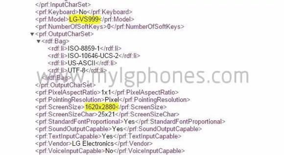 LG G4 3K display