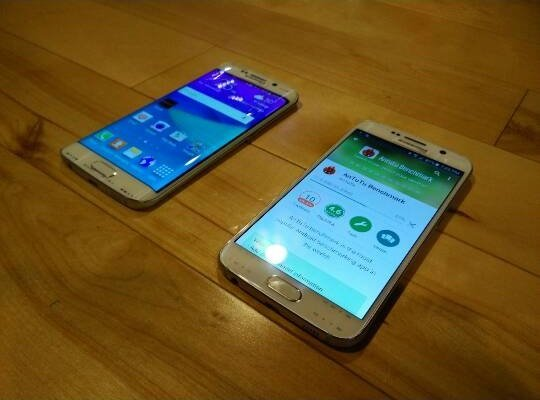 galaxy S6 and S6 edge front