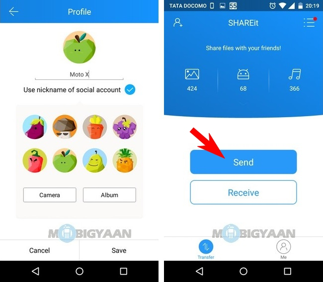How to transfer photos from Android to iPhone (1)